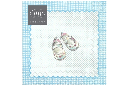 IHR Servietter - For My Little Baby Light Blue 33x33 cm.