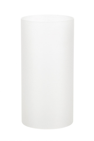 Stella Top Plastic Cylinder Frosted Hvid