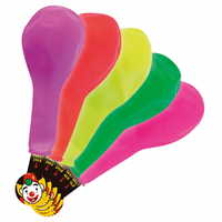 Latex Ballon LED -  Mix 25 cm. 5 stk.
