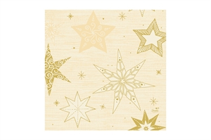 Duni jule frokostserviet 33x33 cm. Star Stories Creme