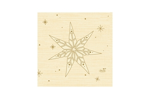 Duni jule kaffeserviet 24x24 cm. Star Stories Creme