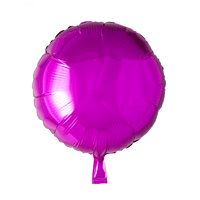 Folieballon  - rund 45 cm - hot pink