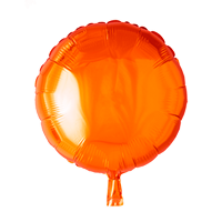 Folieballon  - rund 45 cm - orange
