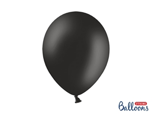 "Latex Ballon Strong Balloon 12"" 30 cm. Sort"